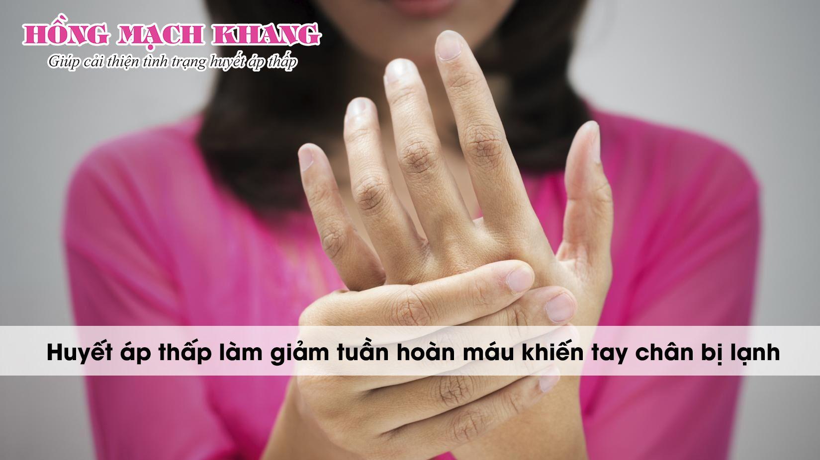 Lạnh chân tay là triệu chứng huyết áp thấp phổ biến